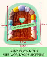 Fairy mold, door mold, fairy door mould, castle  mold, fairy house, fairy jar, fondant mould, Gumpaste mold, Free worldwide shipping